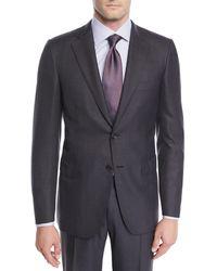 Brioni - Men's Wool Windowpane Two-piece Suit - Lyst