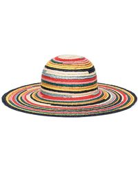 Eugenia Kim - Bunny Multicolored Wide-brim Straw Sun Hat - Lyst
