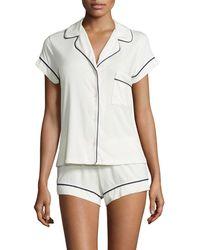 Eberjey - Gisele Boxer-short Jersey Pajama Set - Lyst