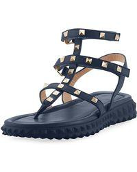 Valentino - Free Rockstud Gladiator Thong Sandal W/ Rubber Sole - Lyst