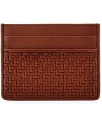 Ermenegildo Zegna - Pelle Tessuta Woven Leather Card Case - Lyst