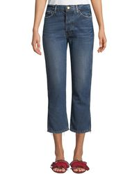 The Great - The Gent Cropped Straight-leg Jeans - Lyst