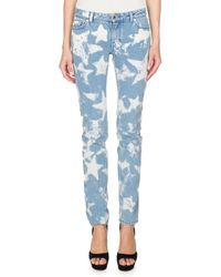 Givenchy - Bleached Stars Skinny Jeans - Lyst