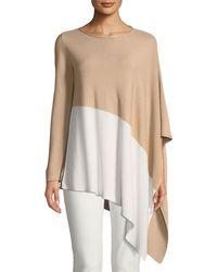 Eileen Fisher - Bateau-neck Asymmetric-hem Knit Top - Lyst