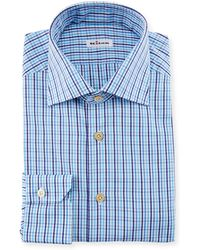 Kiton - Multi-check Dress Shirt - Lyst