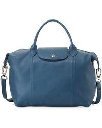 Longchamp - Le Pliage Cuir Medium Tote Bag - Lyst