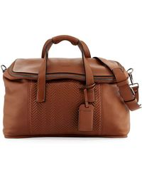Giorgio Armani - Calf Leather Weekender Bag - Lyst