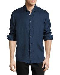 Michael Kors - Linen Button-down Shirt - Lyst