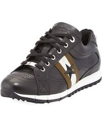 Jimmy Choo | Rafi Men's Star Leather Trainer Sneaker | Lyst