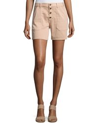 Ba&sh - Cmira High-rise Slim-fit Shorts - Lyst