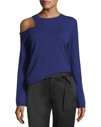 A.L.C. | Hamilton Cutout-shoulder Wool-cashmere Sweater | Lyst
