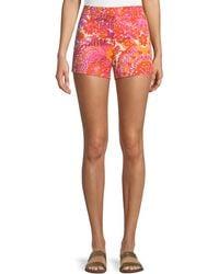 Trina Turk - Corbin Shorts In La Flores Print - Lyst