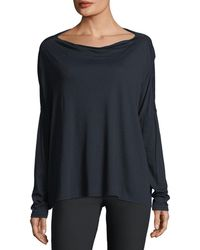 Vince | Long-sleeve Boat-neck Cotton Pullover Top | Lyst