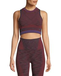 LNDR - Space Knitted Performance Crop Top - Lyst