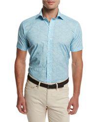 Peter Millar - Day Glow Short-sleeve Sport Shirt - Lyst