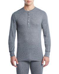 2xist - Sport Tech Long John Henley Shirt - Lyst