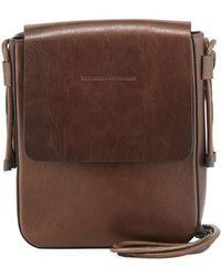 Brunello Cucinelli - Goatskin Leather Crossbody Messenger Bag - Lyst