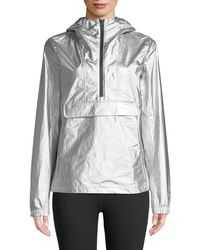 The North Face | Hooded Wind-resistant Metallic Anorak | Lyst