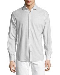 Loro Piana - Andrew Cotton Pique Sport Shirt - Lyst