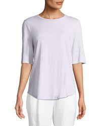 Eileen Fisher - Organic Cotton Slub Top - Lyst