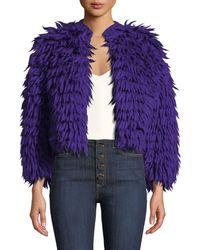 Diane von Furstenberg - Silvia Open-front Wool Coat - Lyst