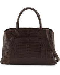 Nancy Gonzalez - Crocodile Large Center-zip Tote Bag - Lyst