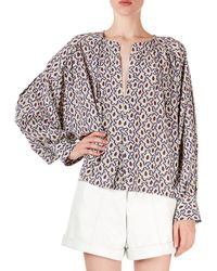 Isabel Marant - Amba Abstract-floral A-line Tunic - Lyst