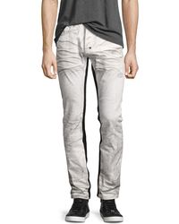 PRPS - Demon Binary Slim-straight Jeans With Tuxedo Stripe - Lyst
