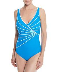 Gottex - Sinatra Surplice One-piece Swimsuit - Lyst