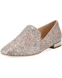 Jimmy Choo - Jaida Flat Speckled Glitter Loafer - Lyst