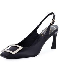 Roger Vivier - Leather Slingback Buckle Pump - Lyst