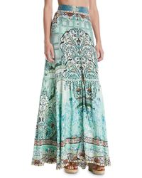 Camilla - The Spirit Within Printed Peasant Maxi Skirt - Lyst