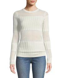 J Brand - Andrea Ribbed Silk-cashmere Crewneck Sweater - Lyst