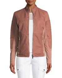 Anatomie - Erin Perforated Leather Jacket - Lyst