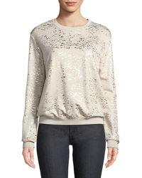 Neiman Marcus - Metallic-speckled Sweatshirt - Lyst
