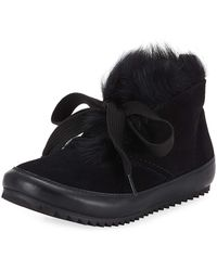 Pedro Garcia - Jain Lace-up Fur Sneakers - Lyst