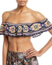Anjuna - Desire Off-the-shoulder Bandeau Swim Top - Lyst