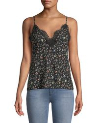 Rebecca Taylor - Sleeveless Vine-print Lace Camisole - Lyst
