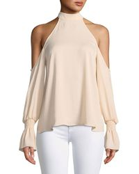 Kendall + Kylie - Cold-shoulder Bell-sleeve Top - Lyst