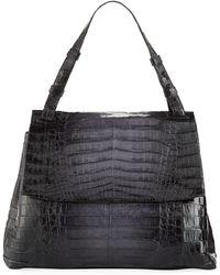 Nancy Gonzalez - Large Crocodile Flap Shoulder Bag - Lyst
