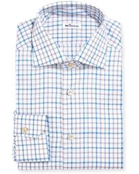 Kiton - Check Cotton Dress Shirt - Lyst