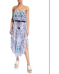 Ramy Brook - Luna Printed Strapless Dress - Lyst