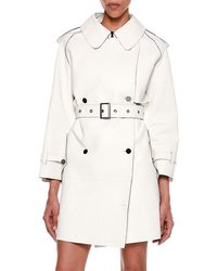 Tom Ford - Contrast-trim Bonded Leather Trench Coat - Lyst