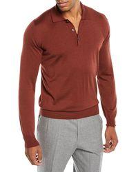 Brioni - Men's Long-sleeve Polo Shirt - Lyst