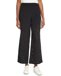 Theory - Alkes Ghost Crepe Eyelet Pants - Lyst