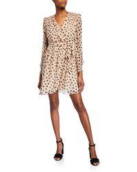 56f5ce1988e5 Kate Spade Heartbeat Silk Midi Dress in Red - Save 30% - Lyst