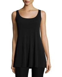 Eileen Fisher - Long Silk Jersey Tunic - Lyst