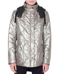 Akris Punto - Metallic Circle-quilted Puffer Coat - Lyst