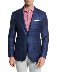 Kiton - Exploded Plaid Three-button Sport Coat - Lyst
