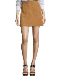 FRAME - Le High A-line Skirt Tobacco - Lyst
